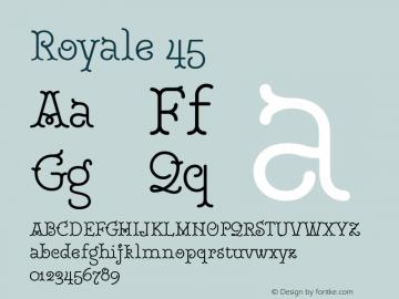 Royale45 Version 1.000;PS 001.000;hotconv 1.0.88;makeotf.lib2.5.64775;YWFTv17图片样张