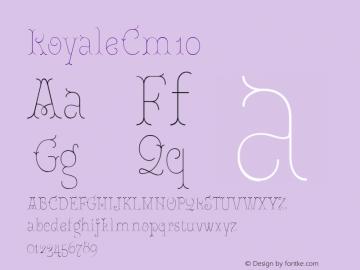RoyaleCm10 Version 1.000;PS 001.000;hotconv 1.0.88;makeotf.lib2.5.64775;YWFTv17图片样张