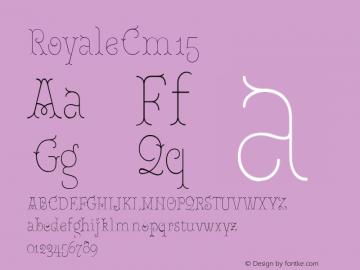 RoyaleCm15 Version 1.000;PS 001.000;hotconv 1.0.88;makeotf.lib2.5.64775;YWFTv17图片样张