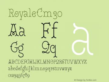 RoyaleCm30 Version 1.000;PS 001.000;hotconv 1.0.88;makeotf.lib2.5.64775;YWFTv17图片样张