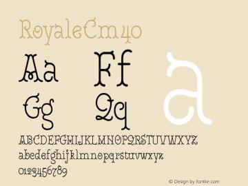 RoyaleCm40 Version 1.000;PS 001.000;hotconv 1.0.88;makeotf.lib2.5.64775;YWFTv17图片样张
