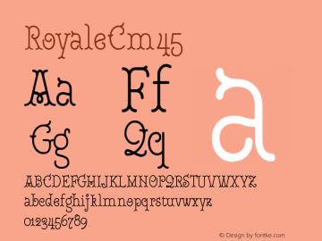 RoyaleCm45 Version 1.000;PS 001.000;hotconv 1.0.88;makeotf.lib2.5.64775;YWFTv17图片样张