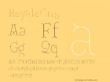 RoyaleCn5 Version 1.000;PS 001.000;hotconv 1.0.88;makeotf.lib2.5.64775;YWFTv17图片样张