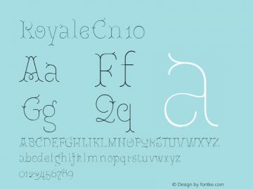 RoyaleCn10 Version 1.000;PS 001.000;hotconv 1.0.88;makeotf.lib2.5.64775;YWFTv17图片样张