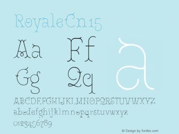 RoyaleCn15 Version 1.000;PS 001.000;hotconv 1.0.88;makeotf.lib2.5.64775;YWFTv17图片样张