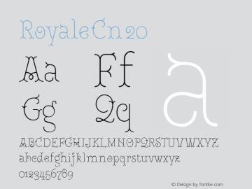 RoyaleCn20 Version 1.000;PS 001.000;hotconv 1.0.88;makeotf.lib2.5.64775;YWFTv17图片样张