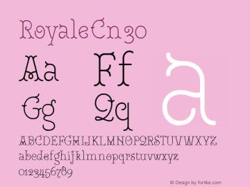 RoyaleCn30 Version 1.000;PS 001.000;hotconv 1.0.88;makeotf.lib2.5.64775;YWFTv17图片样张