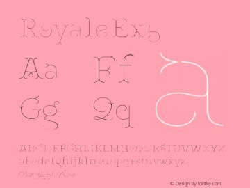 RoyaleEx5 Version 1.000;PS 001.000;hotconv 1.0.88;makeotf.lib2.5.64775;YWFTv17图片样张
