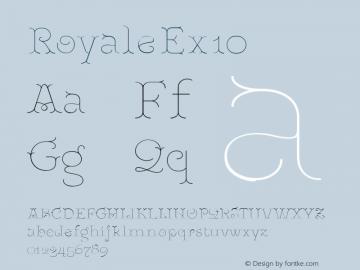 RoyaleEx10 Version 1.000;PS 001.000;hotconv 1.0.88;makeotf.lib2.5.64775;YWFTv17图片样张