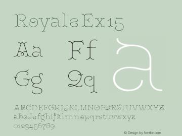 RoyaleEx15 Version 1.000;PS 001.000;hotconv 1.0.88;makeotf.lib2.5.64775;YWFTv17图片样张