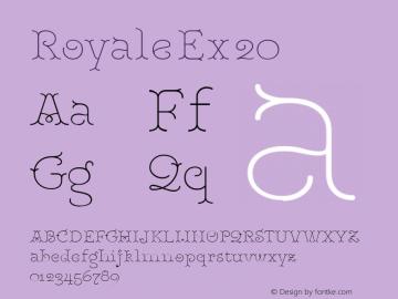 RoyaleEx20 Version 1.000;PS 001.000;hotconv 1.0.88;makeotf.lib2.5.64775;YWFTv17图片样张