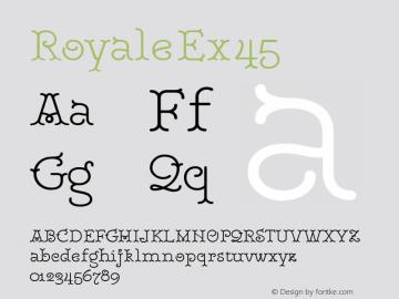 RoyaleEx45 Version 1.000;PS 001.000;hotconv 1.0.88;makeotf.lib2.5.64775;YWFTv17图片样张