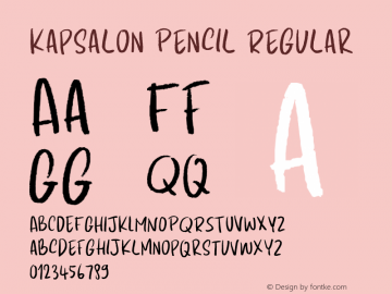 Kapsalon Pencil Regular Version 1.000图片样张