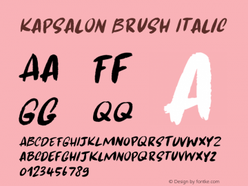 Kapsalon Brush Italic Version 1.000图片样张
