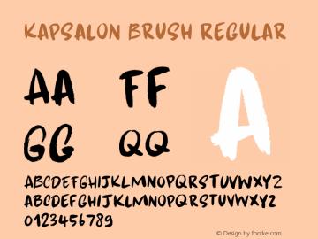 Kapsalon Brush Regular Version 1.000图片样张