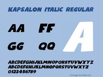 KapsalonItalic Version 1.000;YWFTv17图片样张