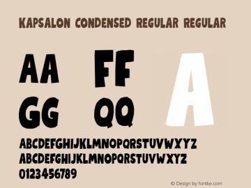 KapsalonCondensed Version 1.000;YWFTv17图片样张