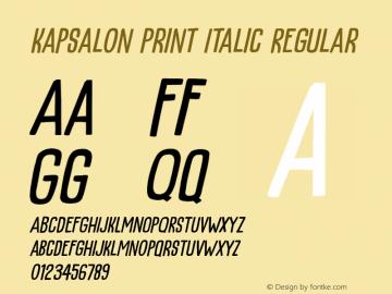 KapsalonPrintItalic Version 1.000;YWFTv17图片样张