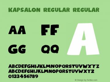 KapsalonRegular Version 1.000;YWFTv17图片样张