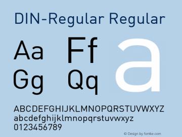 DIN-Regular Version 4.31; 1970图片样张
