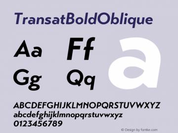 ☞Transat Bold Oblique Version 1.1;com.myfonts.easy.typetanic-fonts.transat.bold-oblique.wfkit2.version.42h9图片样张