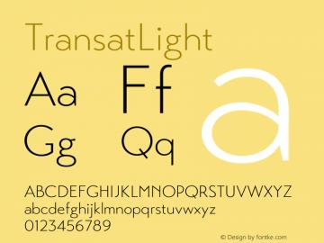 ☞Transat Light Version 1.1;com.myfonts.easy.typetanic-fonts.transat.light.wfkit2.version.42he图片样张