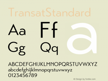 ☞Transat Standard Version 1.1;com.myfonts.easy.typetanic-fonts.transat.standard.wfkit2.version.42hm图片样张