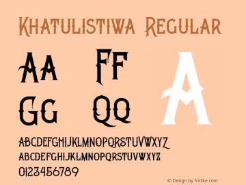 Khatulistiwa Version 1.000;PS 001.001;hotconv 1.0.56图片样张