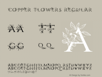 CopperFlowers-Regular Version Version 1.000图片样张
