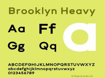Brooklyn Heavy Version 1.000;PS 001.000;hotconv 1.0.88;makeotf.lib2.5.64775图片样张