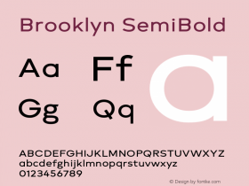 Brooklyn SemiBold Version 1.000;PS 001.000;hotconv 1.0.88;makeotf.lib2.5.64775图片样张