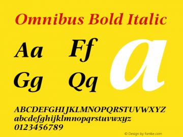 Omnibus-BoldItalic 005.000图片样张