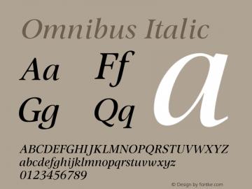 Omnibus-Italic 005.000图片样张