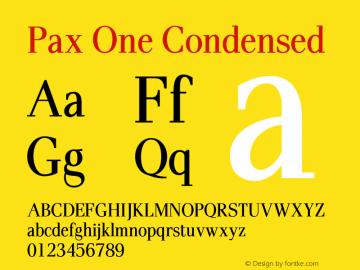 PaxOne-Condensed 005.000图片样张
