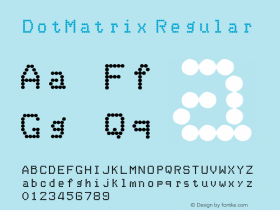 DotMatrix Regular Unknown Font Sample