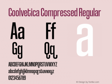 CoolveticaCompressedRg-Regular Version 1.000图片样张