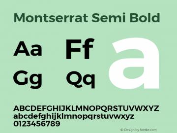 Montserrat Semi Bold Version 3.001 September 28, 2015图片样张