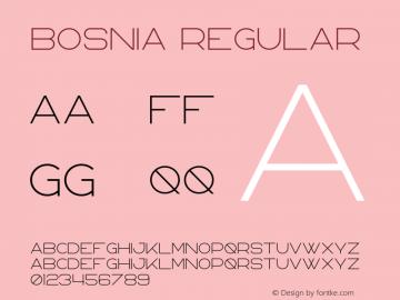 Bosnia Version 1.002;Fontself Maker 3.0.0-3图片样张