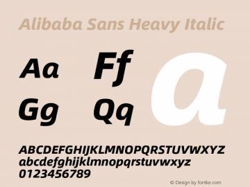 Alibaba Sans Heavy Italic Version 1.02图片样张