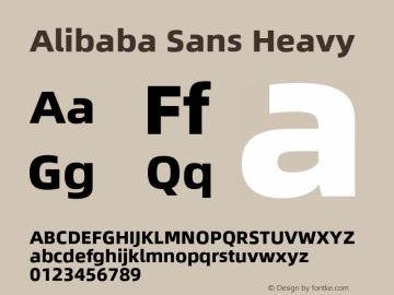 Alibaba Sans Heavy Version 1.02图片样张