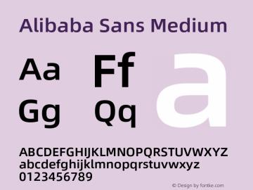 Alibaba Sans Medium Version 1.02图片样张