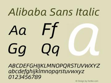 Alibaba Sans Italic Version 1.02图片样张