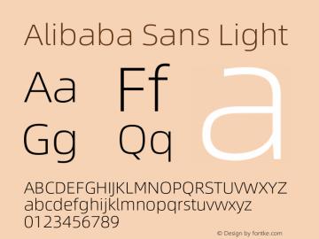 Alibaba Sans Light Version 1.02图片样张
