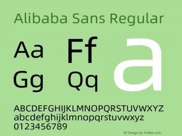 Alibaba Sans Version 1.02图片样张