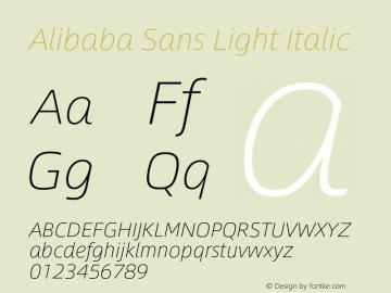 Alibaba Sans Light Italic Version 1.02图片样张