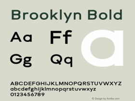Brooklyn Bold Version 1.000图片样张