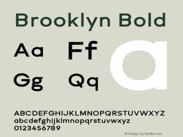 Brooklyn Bold Version 1.000图片样张