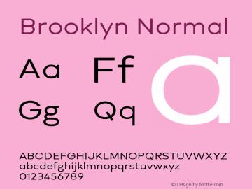 Brooklyn Normal Version 1.000图片样张