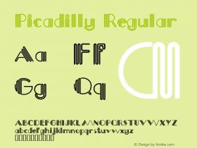 Picadilly Macromedia Fontographer 4.1.4 5/13/98图片样张