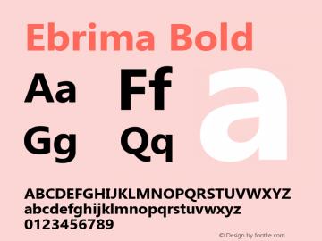 Ebrima Bold Version 5.14图片样张